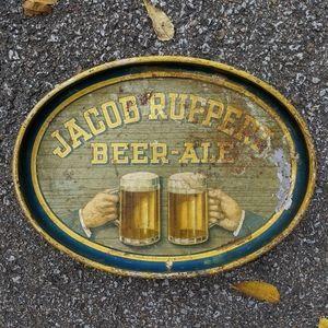 "VTG 60s JACOB RUPPERT Metal 14"" Beer Tray"